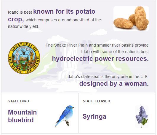 Idaho State Bird and Flower