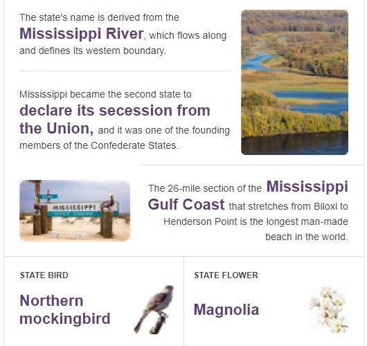 Mississippi State Bird and Flower