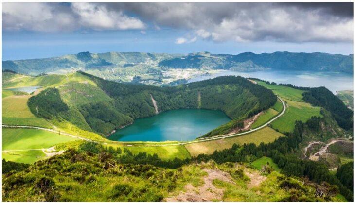 Sete Citades lake in the Azores