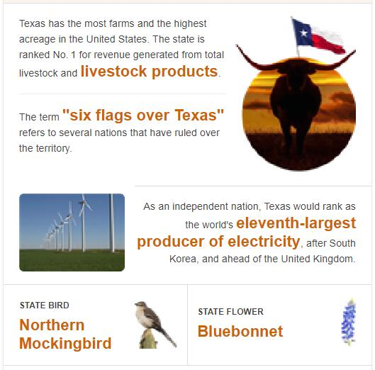 Texas State Bird and Flower